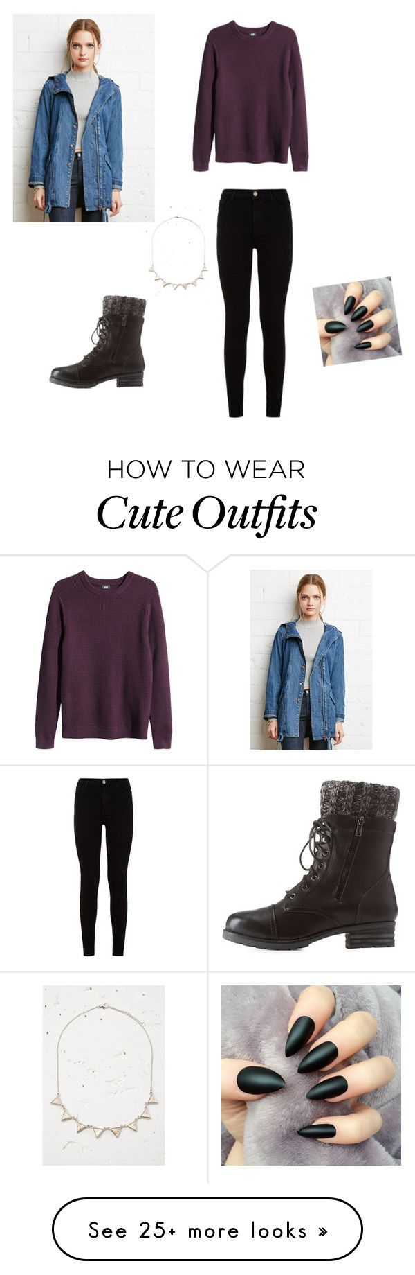 """Cute fall outfit"" by princessrena on Polyvore featuring H&M, Forever 21, 7 For All Mankind and Charlotte Russe"