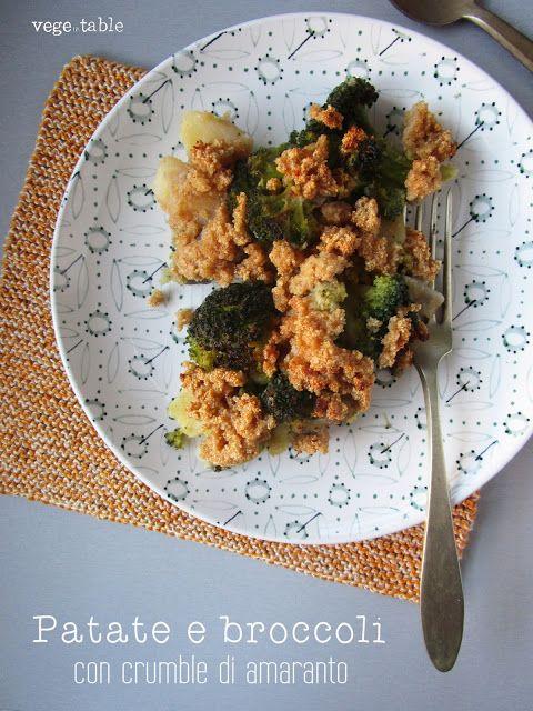 vegeintable: Potatoes and broccoli with amaranth crumble (vegan and gluten free recipe)