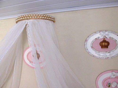 suporte mosquiteiro - dossel pérola - suporte para menina