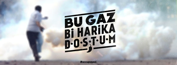 This gas is awesome man!  #Occupygezi memories by Oğuzcan Pelit, via Behance