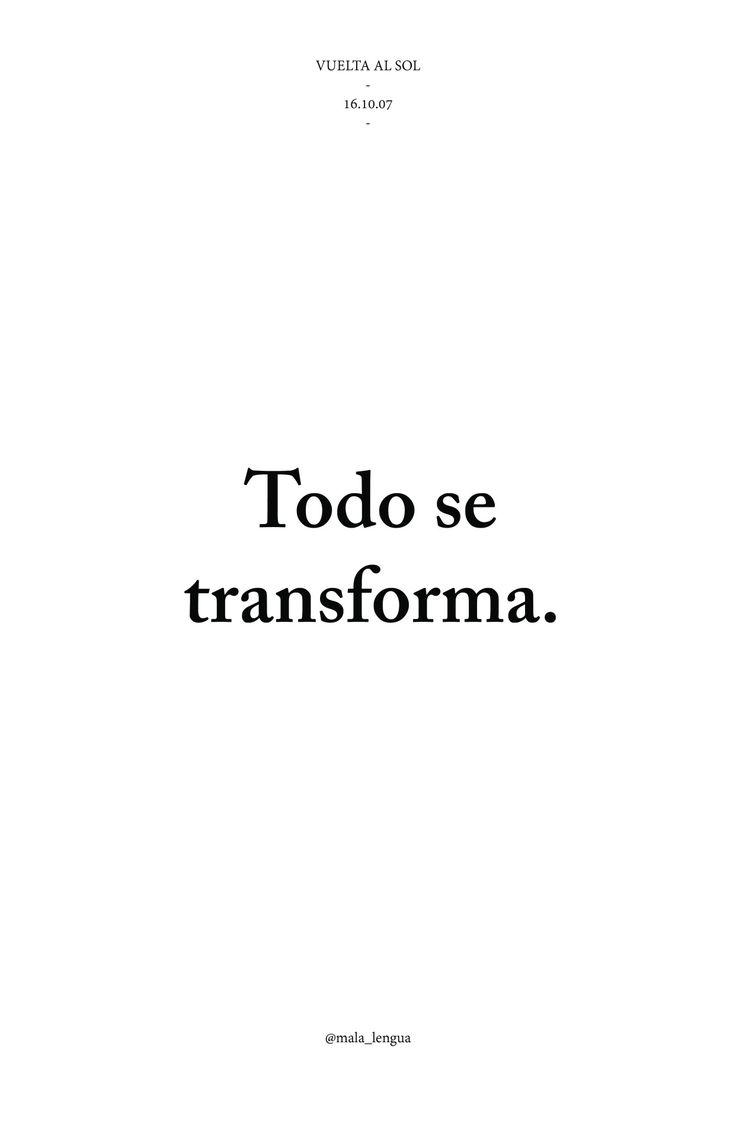 todo se transforma