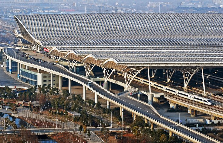 Wuhan Railway Station, China.