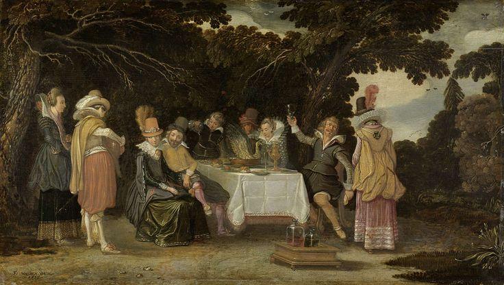 An open-air Party, Esaias van de Velde, , 1615