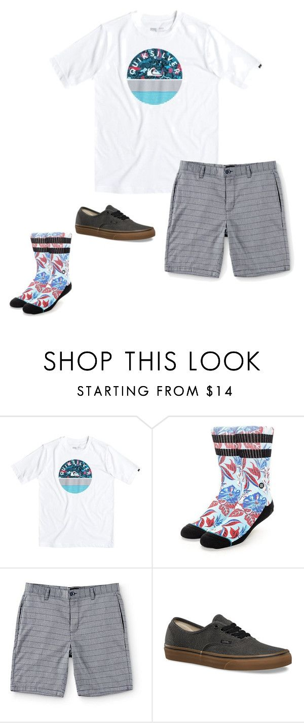 """""""Boys C 22"""" by tobyla on Polyvore featuring RVCA, Vans, men's fashion, menswear, vans, quicksilver, stance and teenboys"""