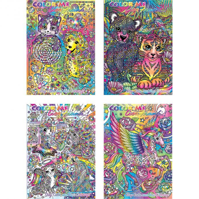 Lisa Frank Adult Coloring Book 4 Pack