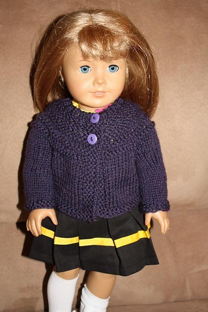 Free Knitting Pattern Doll Cardigan : Garter Ridge Cardigan free knitting pattern (with some ...