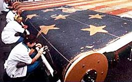 Ralph Lauren provided funding to restore the American flag that inspired the Star Spangled Banner.