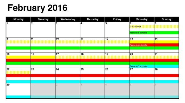 Dates of Easter 2016