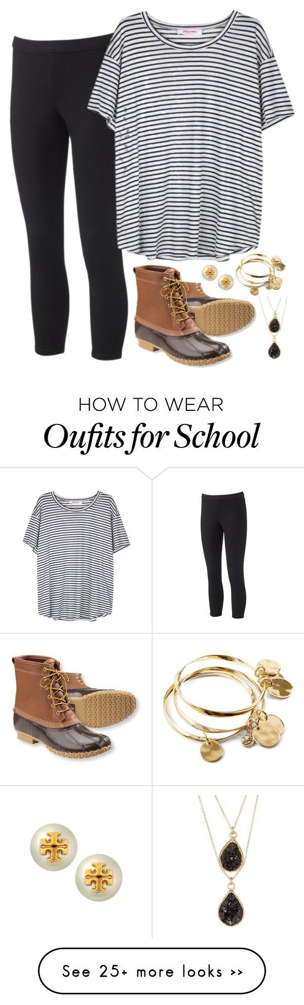 """what I wore to school"" by conleighh on Polyvore featuring moda, Vera Bradley, L.L.Bean, Jennifer Lopez, Organic by John Patrick, 14th & Union e Tory Burch"