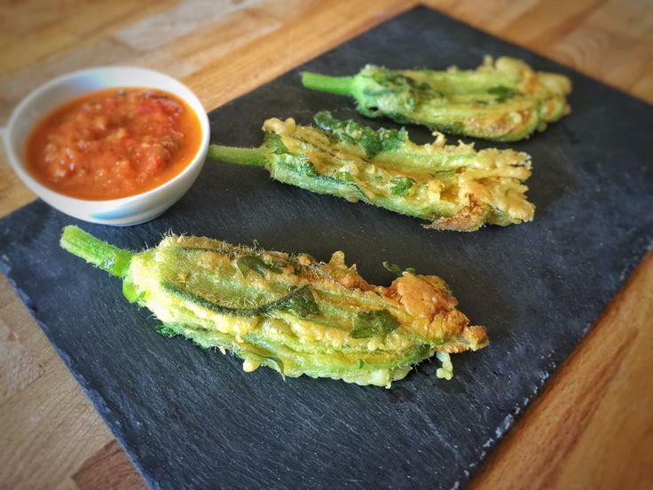 Tempura ou beignets de fleurs de courgettes (vegan)
