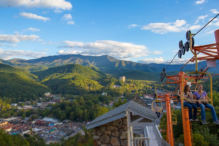 This Vintage Chairlift Transports Visitors To The Top Of Crocket Mountain  For An Amazing Panoramic View Of The National Park And The Quaint Town Ofu2026