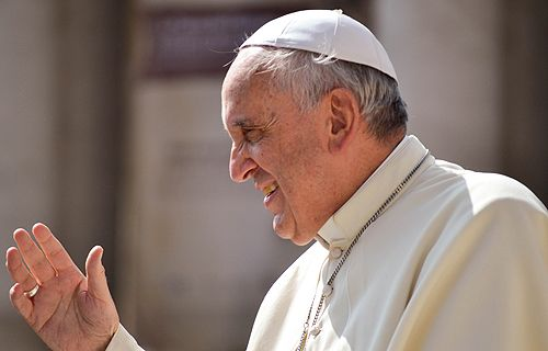 Pope Francis is sending half a ton of food to families suffering hardships in Rome's Tor Bella Monaca neighborhood.