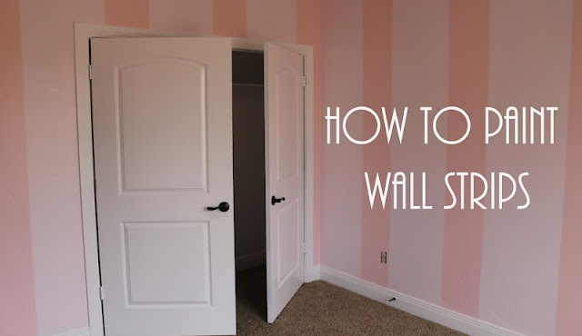 how to paint wall strips tutorial