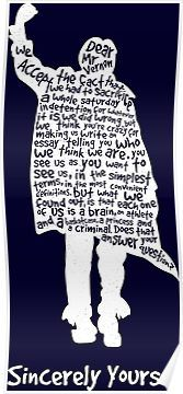 The Breakfast Club – Sincerely Yours – White Poster