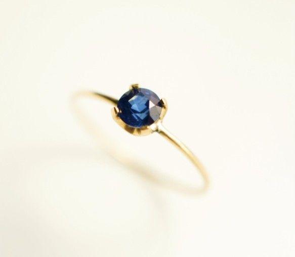 K18サファイアのリング ~Azzurra|指輪・リング|Lipatti|ハンドメイド通販・販売のCreema