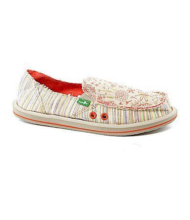 Sanuk Womens Scribble SlipOn Shoes #Dillards