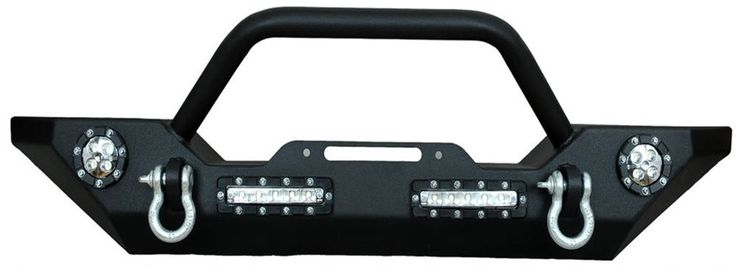 07-15 Jeep Wrangler Front Bumper w/ LED Lights, Winch Mount Plate, D Rings JK in eBay Motors, Parts & Accessories, Car & Truck Parts | eBay