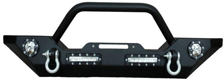 07-15 Jeep Wrangler Front Bumper w/ LED Lights, Winch Mount Plate, D Rings JK in eBay Motors, Parts & Accessories, Car & Truck Parts | eBay