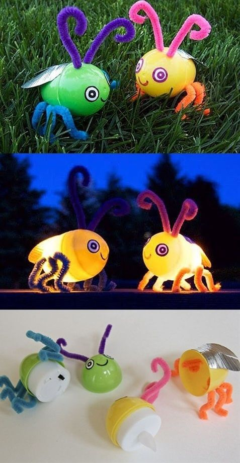 Make Fireflies That Really Light Up: for the kids