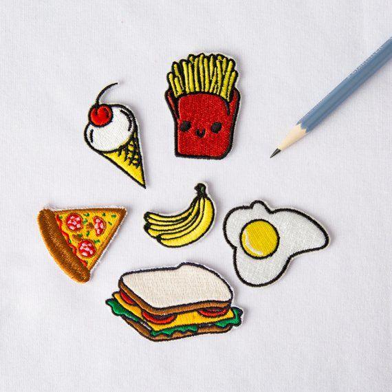 Funny Ice Cream Food Retro Cartoon DIY Kids Clothes Jacket T-Shirt Iron on Patch