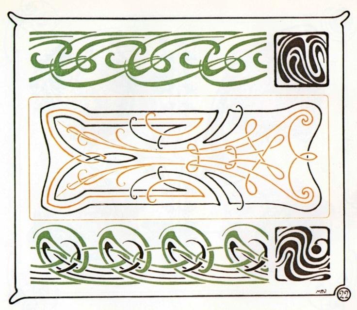 25 b sta jugendstil ornamente id erna p pinterest art for Ornamente jugendstil