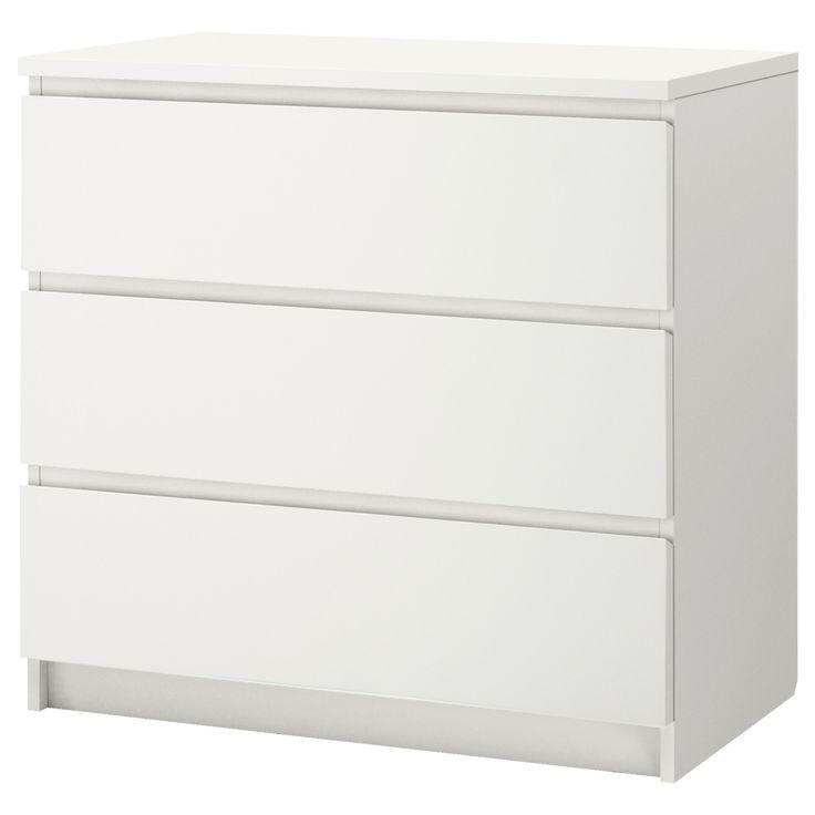 malm c moda de 3 cajones blanco 80 x 78 cm muebles ikea malm y decoracion habitacion bebe. Black Bedroom Furniture Sets. Home Design Ideas