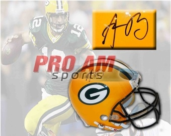Aaron Rodgers Green Bay Packers Signed ProLine Helmet - Green Bay Packers - other  To order or for more information or pricing please contact info@roadgearsports.com