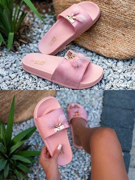 cfb54cbb9e1f5 Trendy ružové šľapky MNHN03A-9R | Dámske šľapky | Košele, Mikiny ...