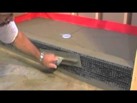 the tile shop diy shower pan part 2 of 2 youtube