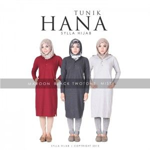 Baju blouse atasan hanna tunik by sylla hijab