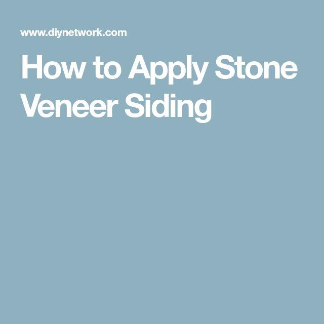 How to Apply Stone Veneer Siding