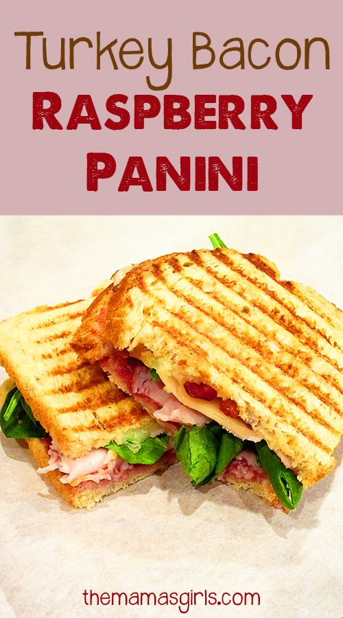 Turkey Bacon Raspberry Panini - Making this for lunch today!