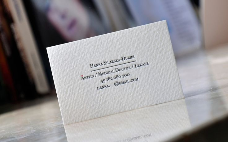 This business card was not printed using single printing plate. Mrs. doctor wished to have more colors on some tiny detail typical for german alphabet and phonetic stuff. If you not see it on too small smartphone display - click it - zoom it - search it!