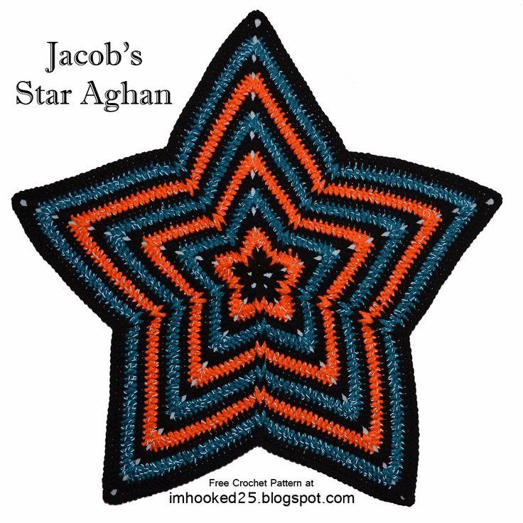 I'm Hooked!: Jacob's Star Afghan. Star afghan with Jacob's Ladder technique.