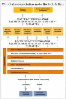 struktureller Aufbau der wirtschaftswissenschaftlichen Studiengänge an der Hochschule Harz