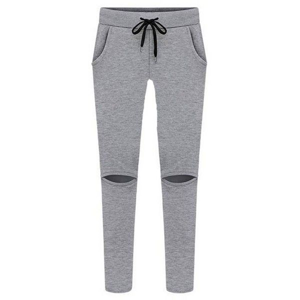 Solid Color Hollow Out Sport Tracksuit For Women (875 UAH) ❤ liked on Polyvore featuring activewear, sports activewear and track suit