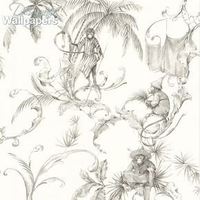 This subtle and unusual wallpaper is named after the 160 Barbary Macaques of Gibraltar, the only free-living/wild monkeys in Europe. It is beautifully intricate, and the hand-drawn design pays homage to this playful species of tailless monkey, which have become the Rock's most famous residents and a top tourist attraction. It is a fun and contemporary pattern that will bring whimsical charm into your home.
