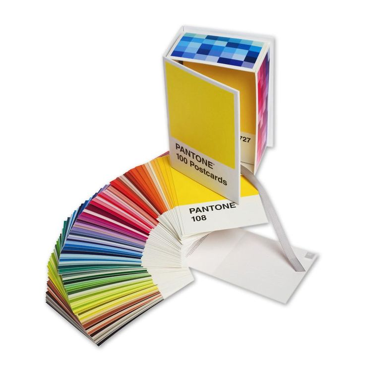 These vibrant postcards are based on the Pantone Matching System, used by printers, designers & other industry professionals for color specifying and matching.