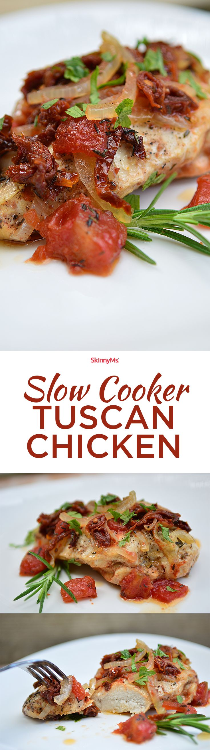 Our Slow Cooker Tuscan Chicken is a delicious feel-good recipe that's like taking a trip to Italy-but without leaving the house!