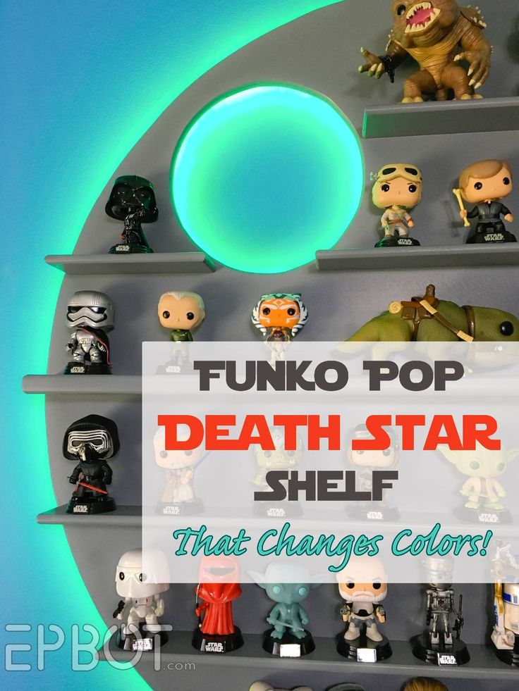 Lighted Death Star shelf to display your Funko Pops! Tutorial at the link.