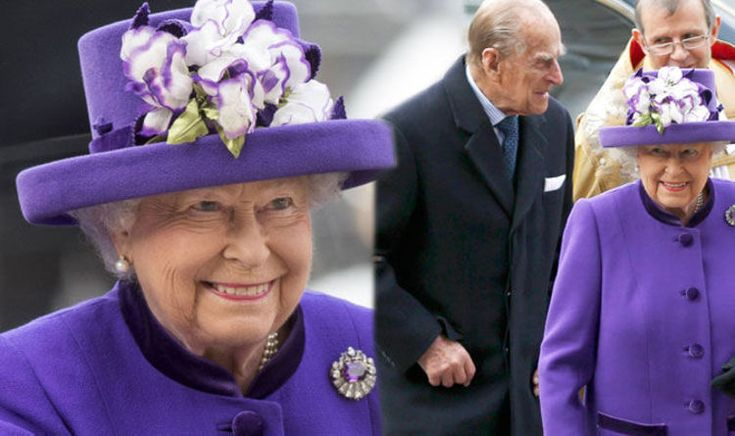 What a jolly Queen! Smiling from ear to ear Queen dons HUGE flower hat to mark good deeds | Royal | News | Daily Express