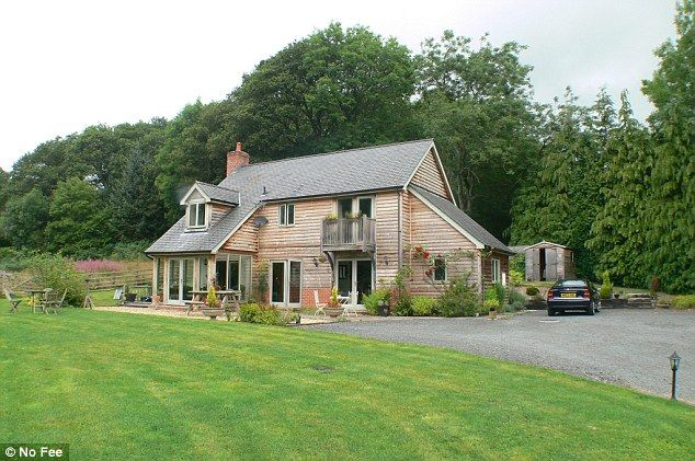 This three-bedroom detached house, designed by Welsh Oak Frame, enjoys a large garden and ...