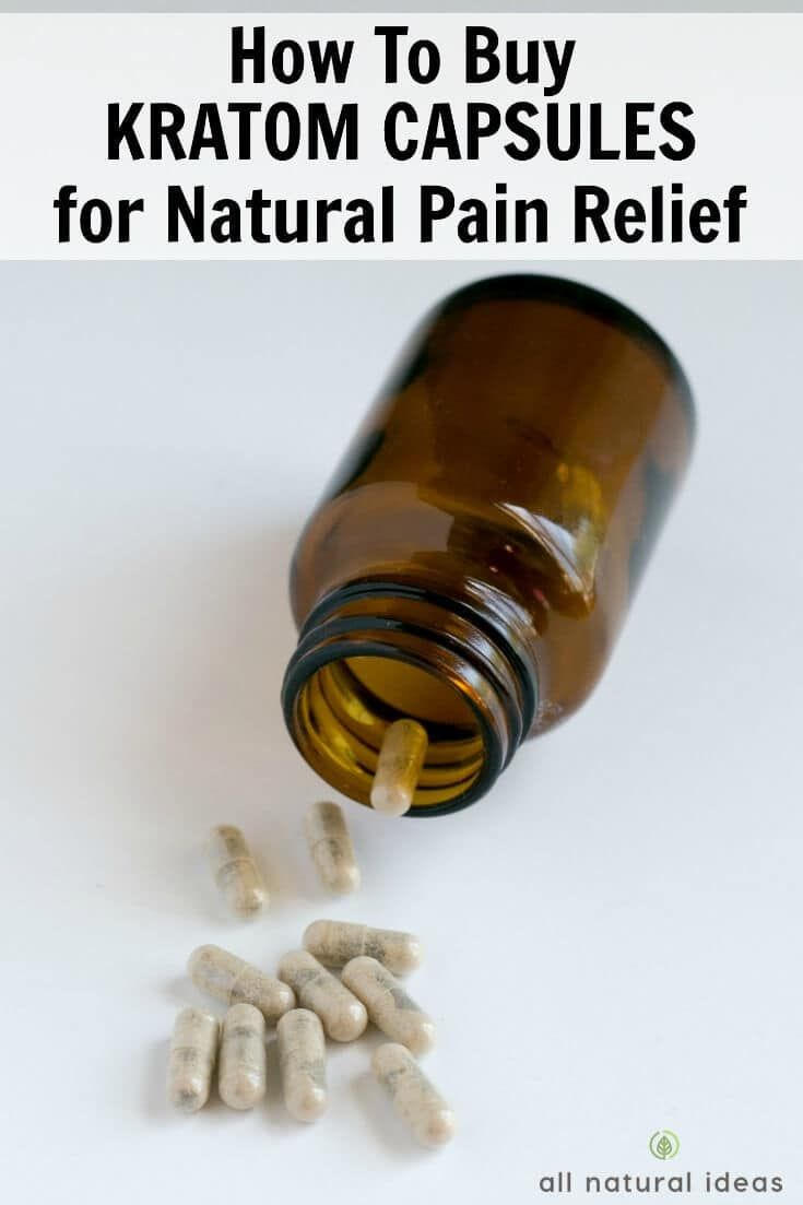 Should you buy kratom capsules for pain relief?
