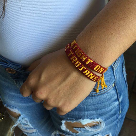 USC Trojans Bracelets  Fight On Bracelets  by TreasuresNBargains