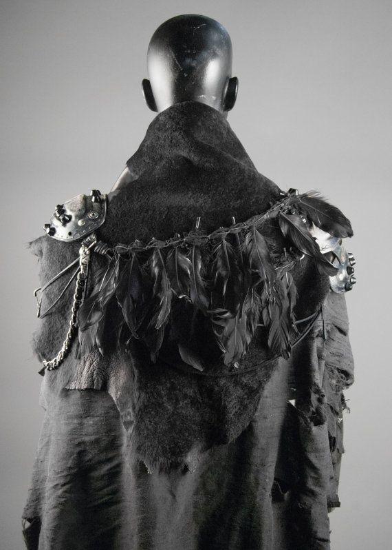 Armure de sorcière de guerrier Junker conceptions féminines avec fourrure & Cape de soie