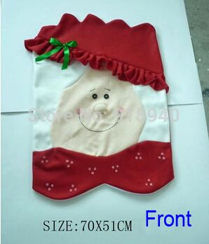 Оптовая г-н & г-жа Санта-Клауса рождественские Кухня Председатель Обложки, ужин стулья охватывает, Банкетный чехлы на стулья