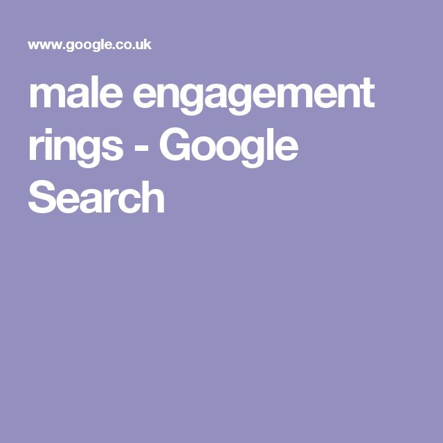male engagement rings - Google Search