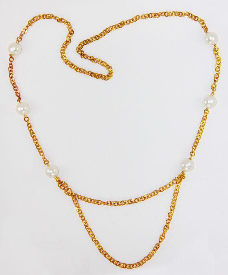İnci Gold Zincir Kolye 54 cm uzunlugunda. www.suanyemoda.com