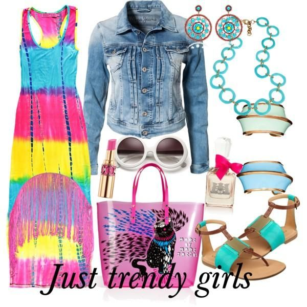 neon dress , Maxi summer dresses for girls http://www.justtrendygirls.com/maxi-summer-dresses-for-girls/