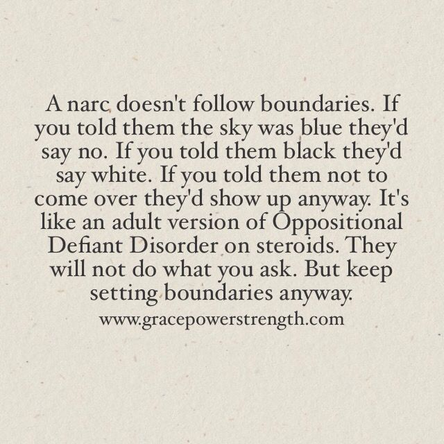 10 Examples Of How Narc's Don't Follow Boundaries